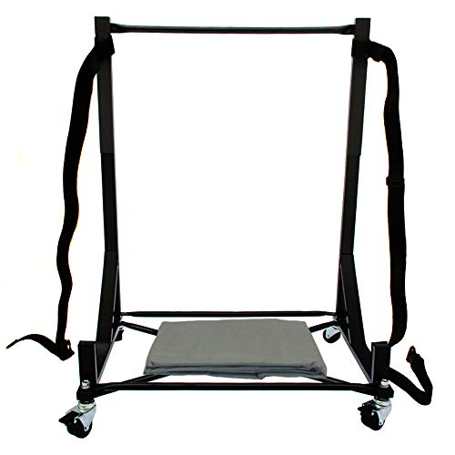 Hardtop Stand Storage Cart (Black) for the Ford Thunderbird, with Securing Strap & Extra-large Generic Hard Top Dust Cover