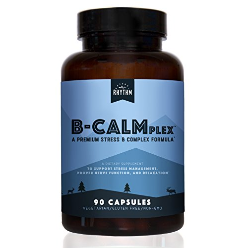B-CALMplex - Stress B-Complex - Vitamin B Complex for Stress & Anxiety Support - 90 Capsules by Natural Rhythm