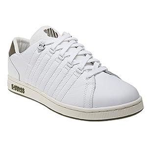 K-Swiss Men's Lozan III TT Leather Sneakers White/Olive US 9