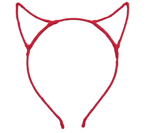 Bonnie Z. Leonardo Devil Horns Headband Chiffon Red ()