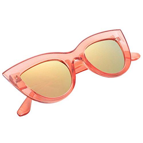 Marco de Gafas de Gafas Marco ojos retro sol gato S17066 SODIAL mujer de sol leopardo de de marron vintage de femeninas Gafas rosado rosado sol de Gafas XT6wwAqR