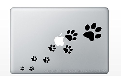 Paw Prints Walking (BLACK) Vinyl Decal Stickers for MacBook Laptop Car Love Forever Pets Dogs Cats Kitty Puppy Ferret Adopt Rescue Shelter]()