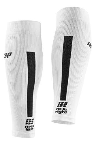 CEP Women's Compression Run Sleeves Calf Sleeves 3.0, White/Dark Grey II by CEP (Image #3)
