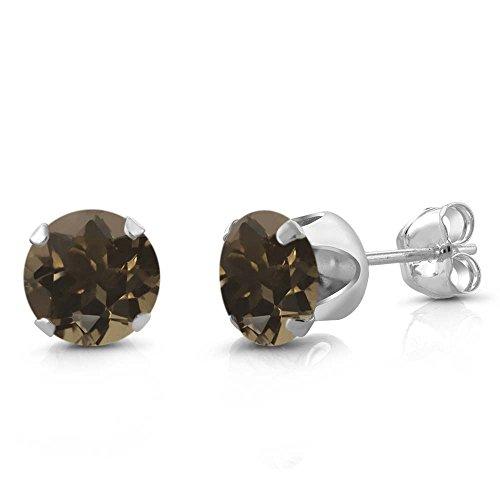 Smoky Quartz Sterling Earrings - 6