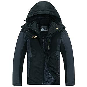 Jessie Kidden Men's Mountain Waterproof Ski Jacket Windproof Rain Jacket