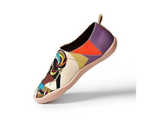 Uin Beauté Femme Africaine Chaussures De Mode Beige Toiles La Pour À rwwqgC