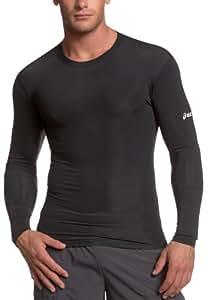ASICS Men's Running Compression Long Sleeve,Black,X-Small