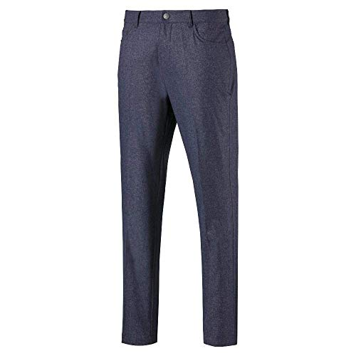 Puma Golf Men's 2019 Jackpot 5 Pocket Heather Pant, Peacoat, 28 x 32
