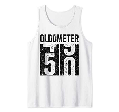 Oldometer 50 T-Shirt 50th Birthday Gift Shirt Tank Top