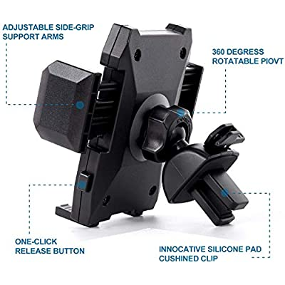 Air Vent Phone Holder, Amoner Car Phone Mount Cell Phone Holder Car Vent Phone Mount Car Mount Compatible with iPhone 11 Pro Max XS Max XR X 8 7 6 5 SE Samsung Galaxy S10 S9 S8 S7 Note10 9 LG and More