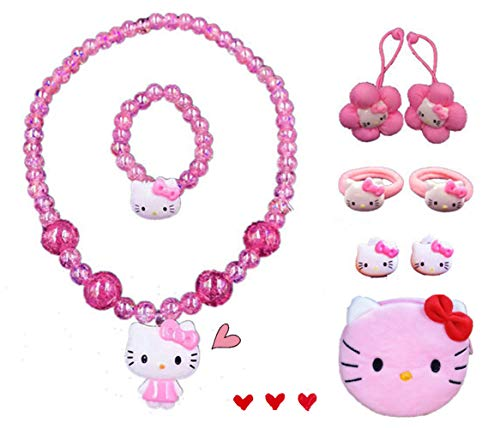 Kerr's Choice Hello Kitty Necklace Jewelry Hello Kitty Earrings | Hello Kitty Gift Set | Hello Kitty Accessories Girls Women Birthday Gift (Hello Kitty 2) (Hello Kitty Earring Set)
