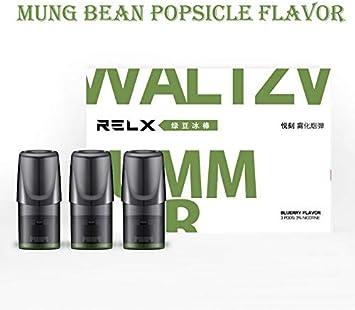 Cigarrillos electrónicos Vape para RELX 350mah CARTRIDGE 2PCS Starter Kit Disfrute de un disfrute de 24 horas con una sola carga, Sin nicotina Paleta de frijol mungo (3 piezas/caja): Amazon.es: Salud y