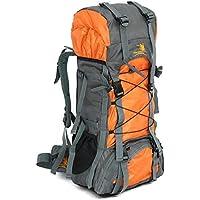 60L 户外野营旅行帆布背包 登山背包 登山背包 登山徒步背包 大容量内框