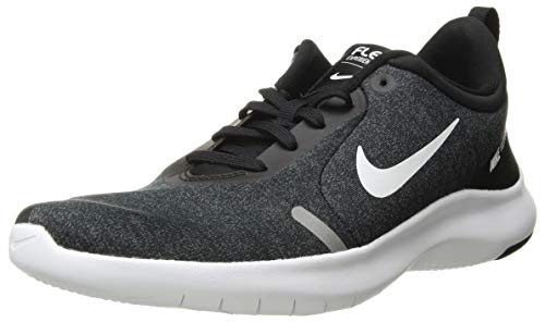 (Nike Women's Flex Experience Run 8 Shoe, Black/White/Anthracite, 10 Wide US )