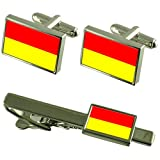 Pretoria City South Africa Flag Cufflinks Tie Clip Box Gift Set