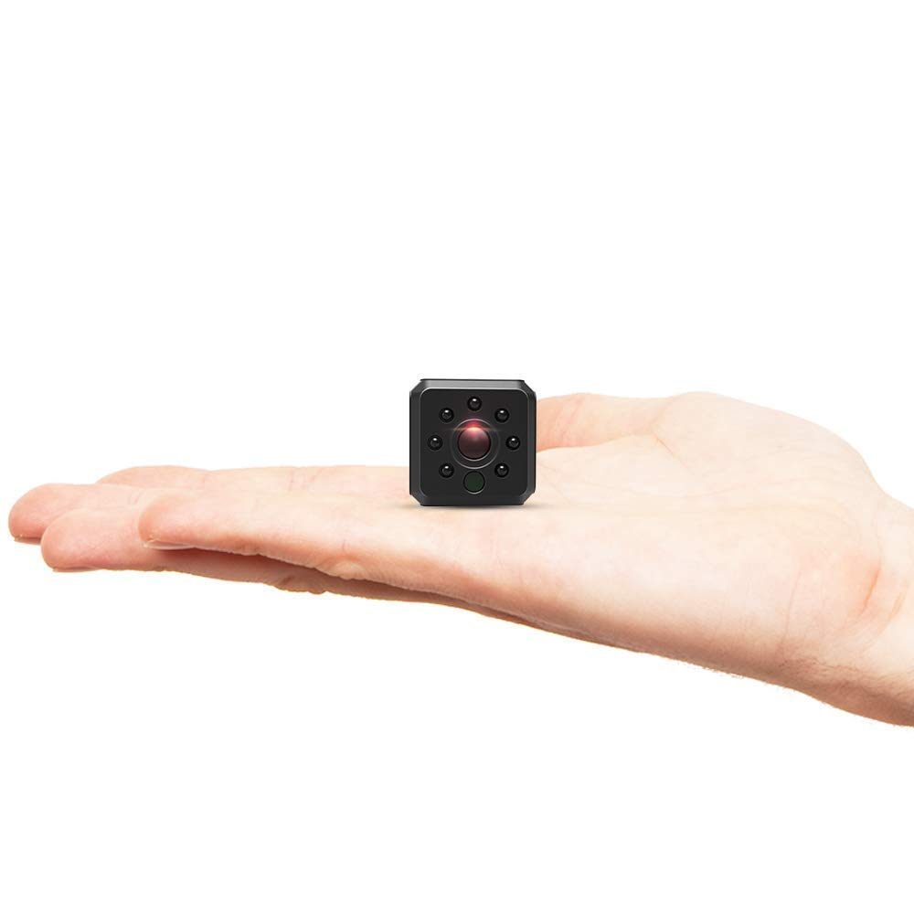 C-Xka Mini cámara espía WiFi Cámara oculta, cámara de seguridad inalámbrica HD 1080P para cámaras de niñera caseras con detección de movimiento con visión ...