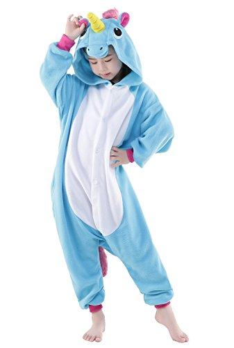 Newcosplay Children Unisex Unicorn Onesie Pajamas Costume