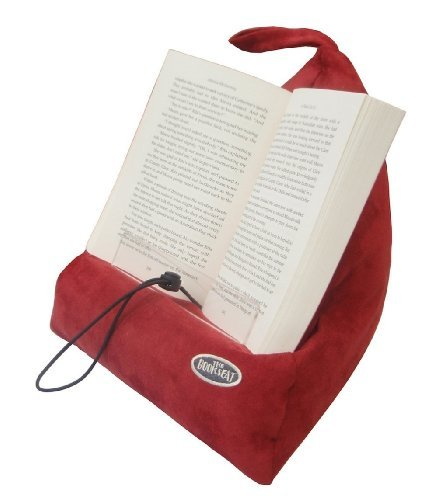 The Book Seat - Book Holder and Travel Pillow - Red (Reading Pillows Pyramid For)