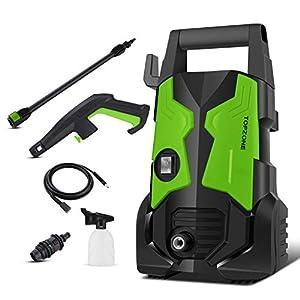 TOPZONE Nettoyeur Haute Pression 1700W, Max.135Bar, 450L/H électrique Power Washer Avec Buse Rotative, Portable Machine…