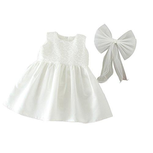 ZAMME Vestido de niña de niña de bautizo bautizos vestido de niña de flor