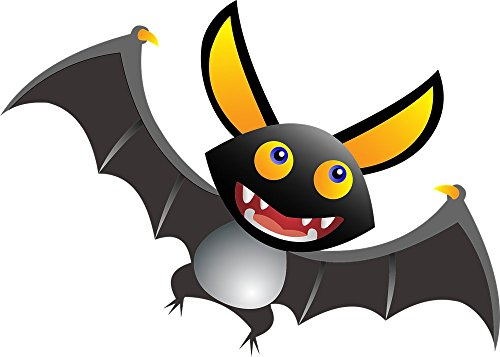Wall Art Impressions Quality Prints - Laminated 33x24 Vibrant Durable Photo Poster - Animal Bat Blood Cartoon Comic Cute Drawing Halloween Mammal Spooky Vampire Wings SVG Scary -