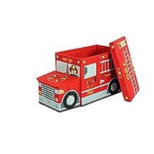Greenway GFS1100FT Collapsible Fire Truck Children's Storage Ottoman