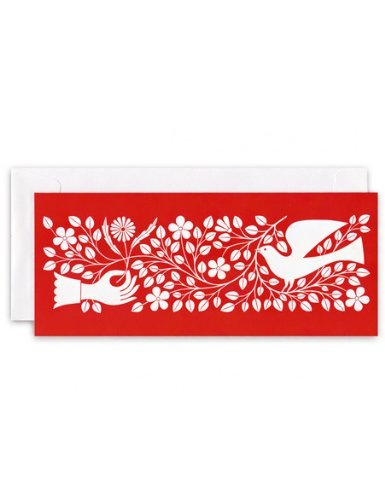 Confezione regalo di Natale vacanza biglietti d' auguri, hand & colomba, (15 pezzi) di Fotofolio