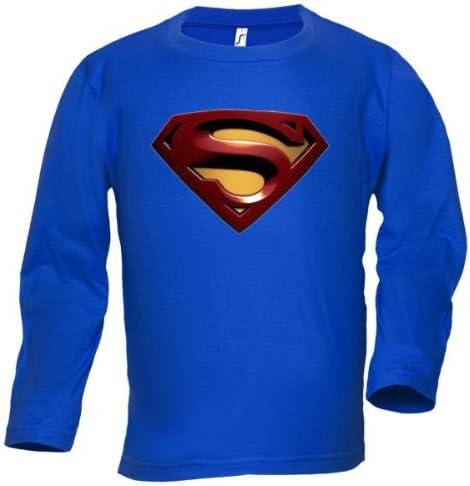 Camiseta Superman Logo 2008 Manga Larga (Talla: Talla M Unisex Ancho/Largo [53cm/72cm] Aprox): Amazon.es: Juguetes y juegos