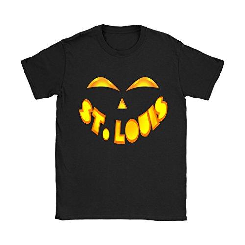 St. Louis Jack O' Lantern Pumpkin Face Halloween Costume Shirt - Women's Sized Tee, 3XL