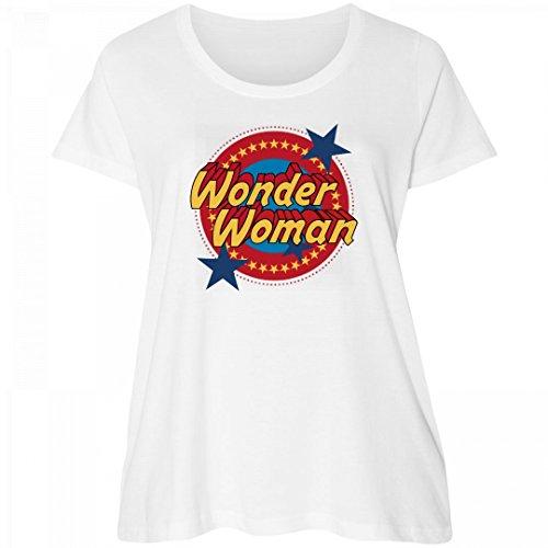 Wonder Woman Emblem Plus Tee: Women's Curvy Plus Size Scoopneck (Wonder Woman T Shirt Plus Size)