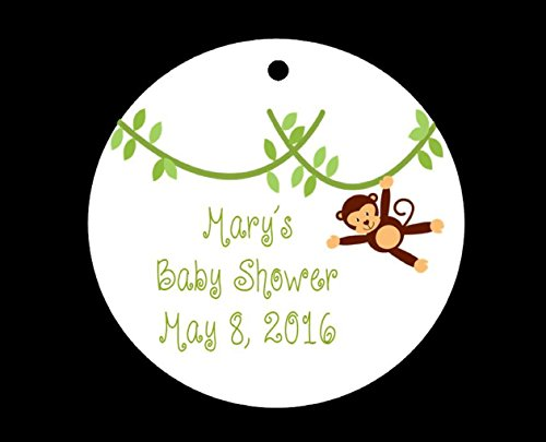 Set of 10 Monkey Baby Shower Favor Tags/Party Tags - All Wording Customized