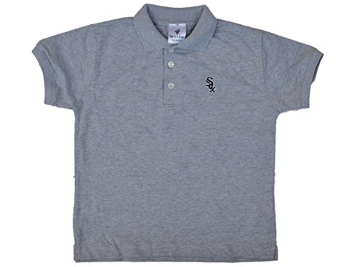 Soft As A Grape Chicago White Sox SAAG Toddler Boys Gray Short Sleeve Golf Polo Shirt – DiZiSports Store