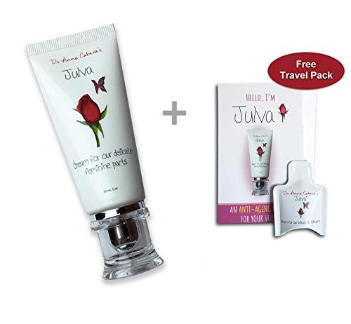 Julva Vaginal Cream Personal Moisturizer - Vaginal Health Moisturizer, Vulva Cream for Dryness, Irritation, Vagina Discomfort Due to Menopause, Thinning (1TUBEANDTRIAL)