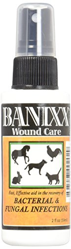 Banixx Dog/Cat Ear Infection, Hot Spot & Ringworm Treatment, Itchy skin relief & Ear Cleaner-2oz