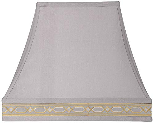 Gray Rectangular Bell Lamp Shade 5/8x10/14x12x11.25 (Spider) - Springcrest ()