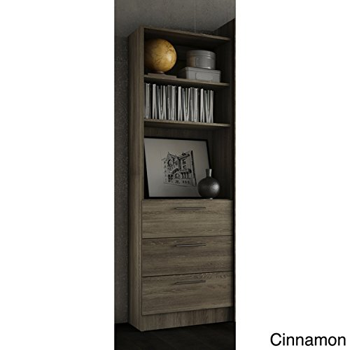 Stellar Home Furniture Storage Unit with Drawers in Rustic Cinnamon by Stellar Home