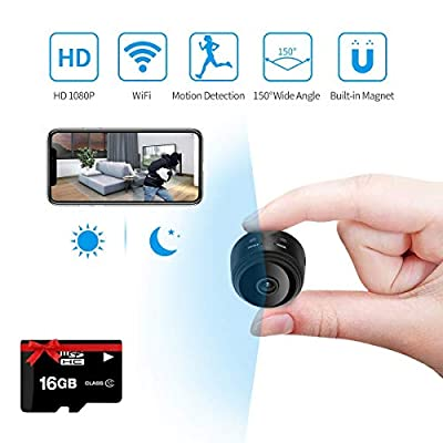 Fulens - Mini spy Hidden Camera, Night Vision WiFi spy Camera, Motion Detection Small Camera by Fulens