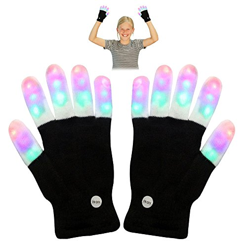 TOP Gift LED Flashing Gloves - Novelty Toys - Best Gifts for Kids