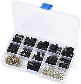 620 Piezas Dupont Wire Jumper Header Conectores Caja Surtido Kit Crimp Pin Macho Hembra Terminal PCB electrónica DIY Kits Herramientas: Amazon.es: Electrónica