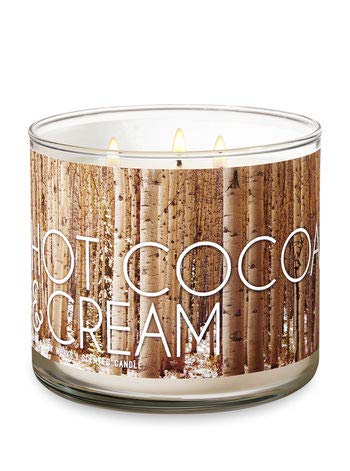 Bath and Body Works 3-Wick Scented Candle Hot Cocoa and Cream 14.5 Ounce ()