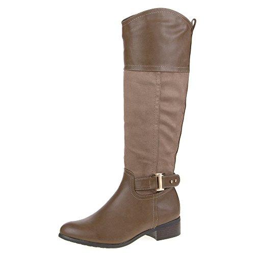 Mujer Guantes, 951de PG, botas marrón