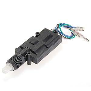 Motor para Cierre Centralizado Repuestos de Coche 5 Cables Negro