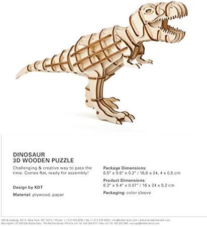 assortiti Kikkerland GG94-A Puzzle 3D Dinosauro Carta