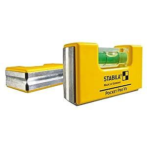 Stabila 11901 bolsillo nivel Pro con cierre magnético para amarillo