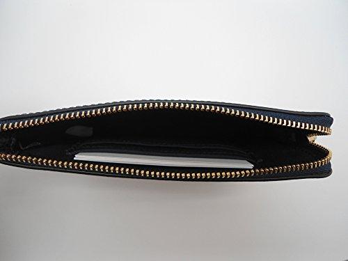 Coach Crossgrain Leather Corner Zip Wristlet Midnight by Coach (Image #5)