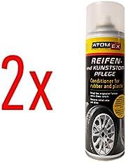 XADO de cuidado de neumáticos plástico de cuidado de abrillantador retoques Neumáticos brillo–Neumáticos como nuevo–AtomEx–Juego de 2