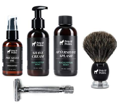 Pete and Pedro Complete Shave Kit - Entire Lineup of Men's Shaving Products by Pete & Pedro