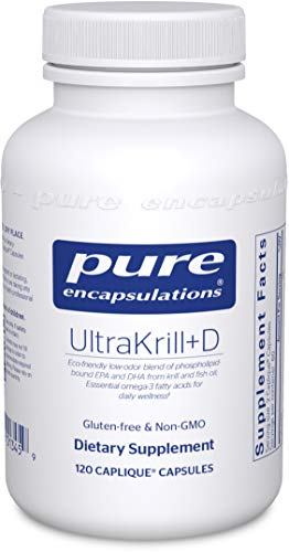 Pure Encapsulations - UltraKrill+D - Odorless Krill Oil Blen