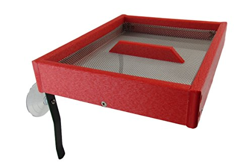 JCs Wildlife Easy Clean Red Poly Window-Mount Platform Bird Feeder USA Made (Window Mount Platform)