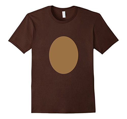 Mens Rudolph Costume Christmas Reindeer DIY Idea Funny T-shirt XL Brown